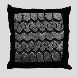 Tire Tracks Throw Pillow