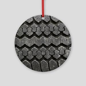 Tire Tracks Round Ornament