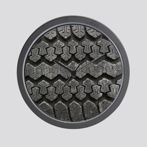 Tire Tracks Wall Clock