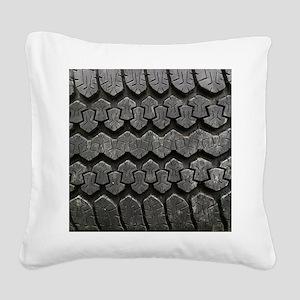 Tire Tracks Square Canvas Pillow