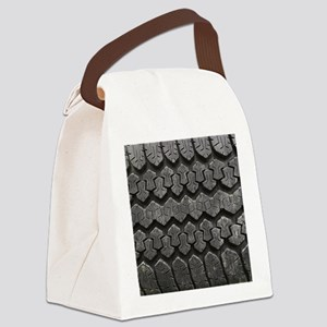 Tire Tracks Canvas Lunch Bag