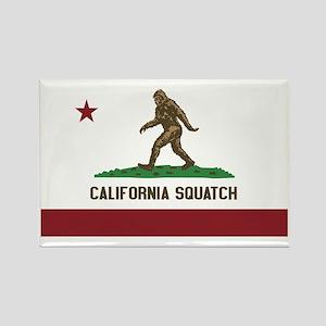 California Squatch Rectangle Magnet