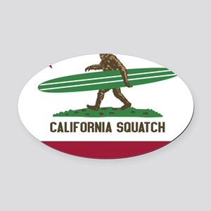 California Squatch Oval Car Magnet