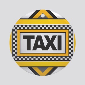TAXI Round Ornament