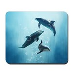 Dolphins in the Sea Mousepad