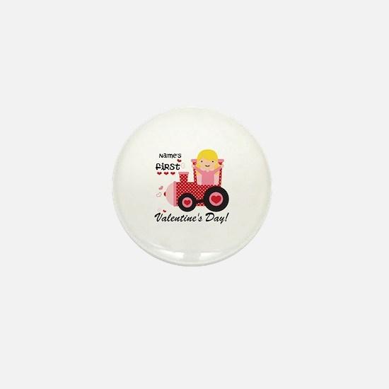 First Valentine's Day Mini Button