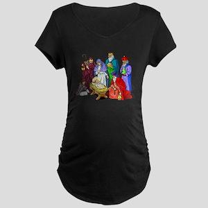 Christmas_nativity_scene Maternity T-Shirt