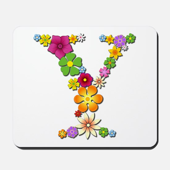 Y Bright Flowers Mousepad