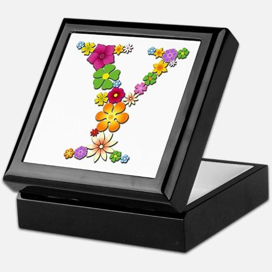 Y Bright Flowers Keepsake Box