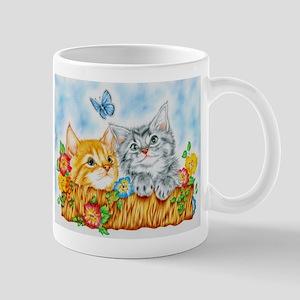 """Watching kittens"" Mug"