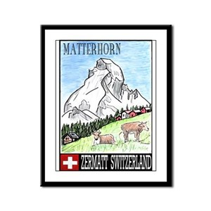 The Matterhorn Shop Framed Panel Print