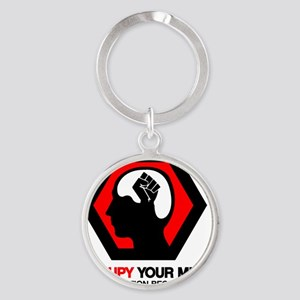 Anonymous 99% Occupy t-shirt Round Keychain