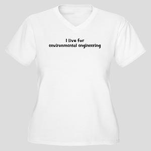 Live for environmental engine Women's Plus Size V-