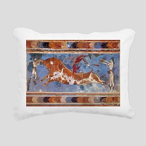 Taureau Cavaliers à Knos Rectangular Canvas Pillow