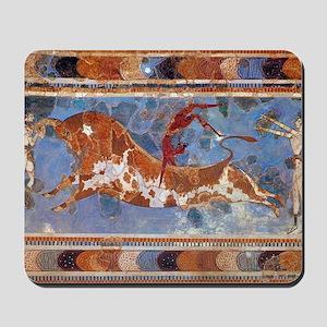 Taureau Cavaliers à Knossos Mousepad