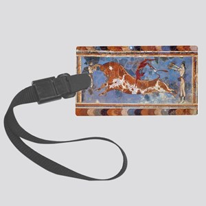 Taureau Cavaliers à Knossos Large Luggage Tag