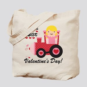 First Valentines Day Tote Bag