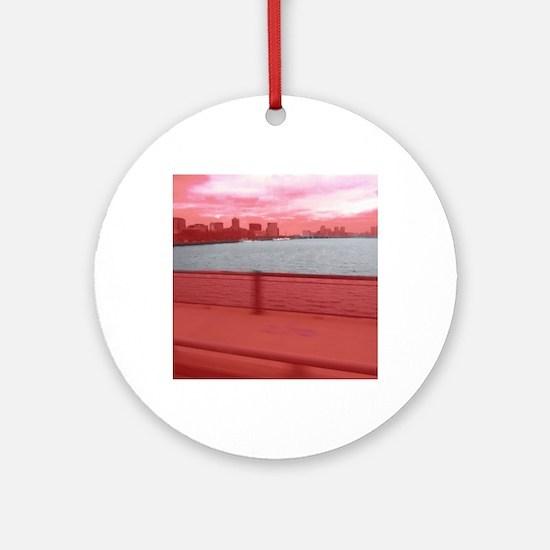 Boston-Charles River Round Ornament