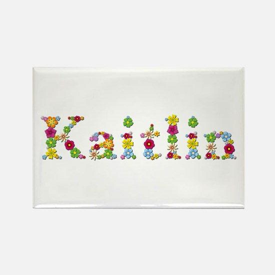 Kaitlin Bright Flowers Rectangle Magnet