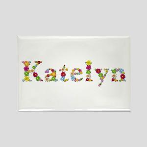 Katelyn Bright Flowers Rectangle Magnet