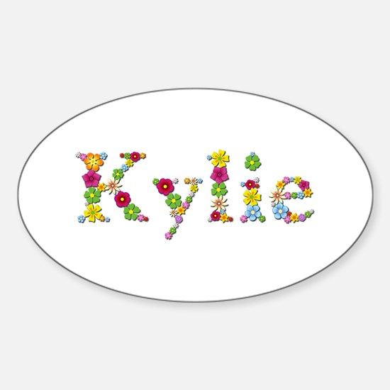 Kylie Bright Flowers Oval Decal