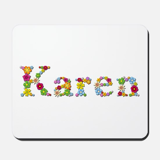 Karen Bright Flowers Mousepad