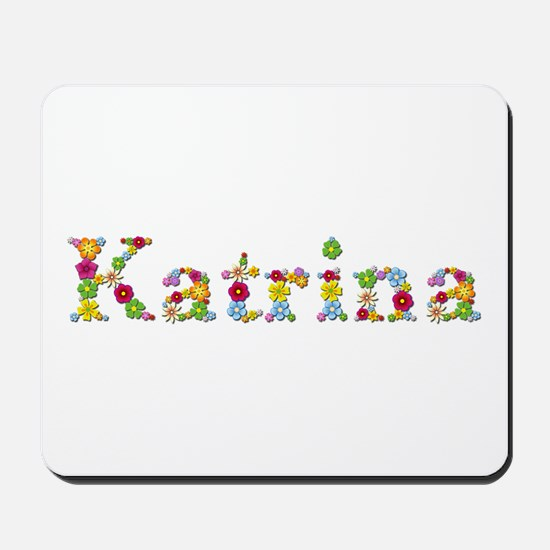 Katrina Bright Flowers Mousepad