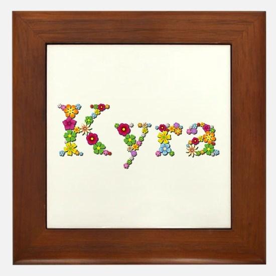 Kyra Bright Flowers Framed Tile