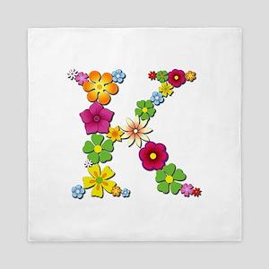 K Bright Flowers Queen Duvet