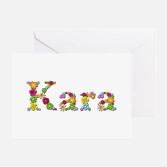 Kara Bright Flowers Greeting Card