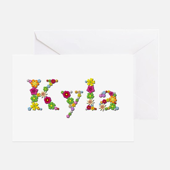 Kyla Bright Flowers Greeting Card