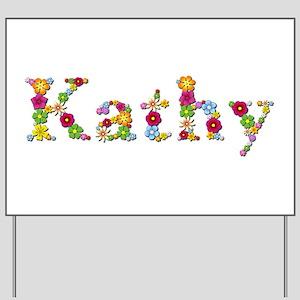 Kathy Bright Flowers Yard Sign