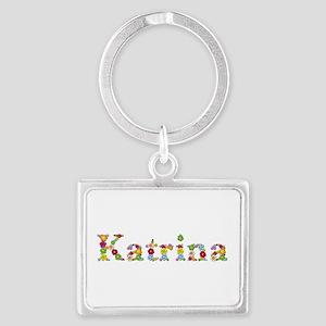 Katrina Bright Flowers Landscape Keychain