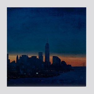 New york skyline coasters cafepress new york sunrise over verrazano bridge tile coast ppazfo