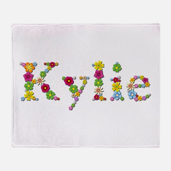 Kylie Bright Flowers Throw Blanket