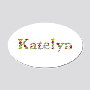 Katelyn Bright Flowers 20x12 Oval Wall Decal