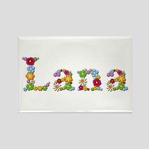 Lana Bright Flowers Rectangle Magnet