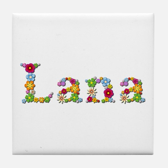 Lana Bright Flowers Tile Coaster