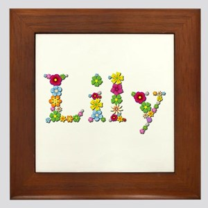 Lily Bright Flowers Framed Tile