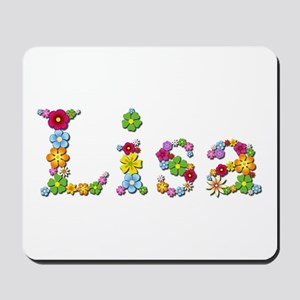 Lisa Bright Flowers Mousepad