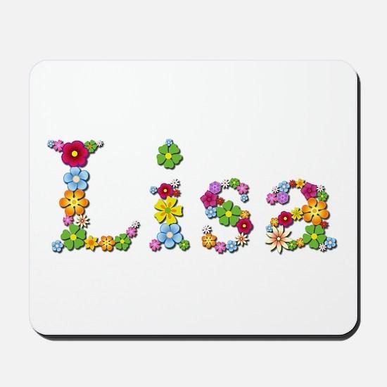 Lisa Bright Flowers Mousepad