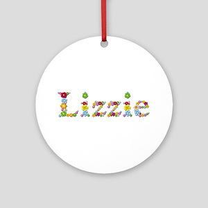 Lizzie Bright Flowers Round Ornament