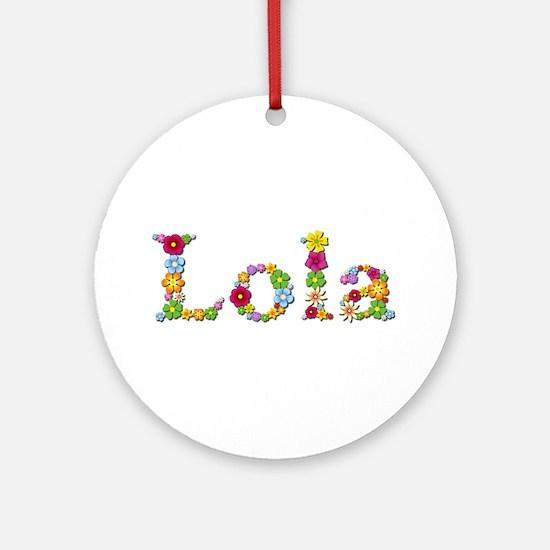 Lola Bright Flowers Round Ornament
