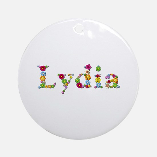 Lydia Bright Flowers Round Ornament