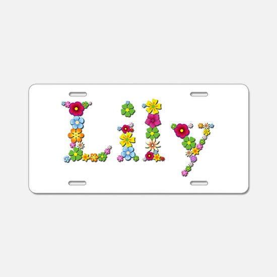 Lily Bright Flowers Aluminum License Plate