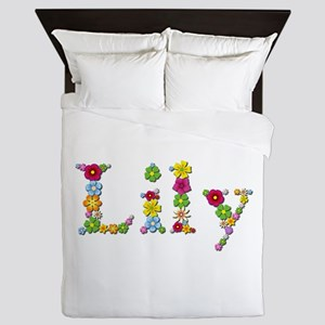 Lily Bright Flowers Queen Duvet