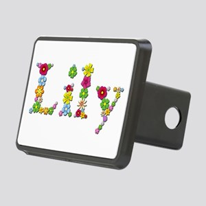 Lily Bright Flowers Rectangular Hitch Cover