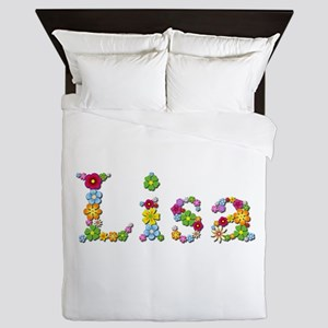 Lisa Bright Flowers Queen Duvet