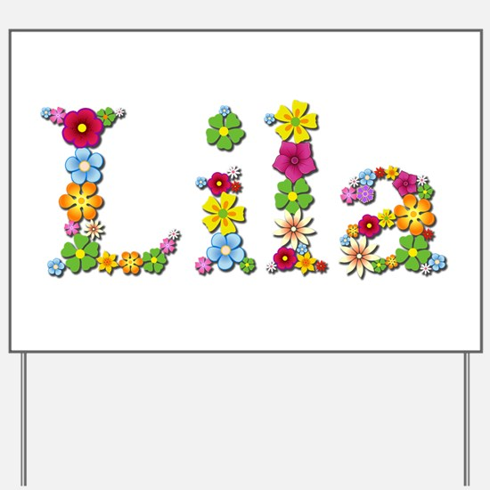 Lila Bright Flowers Yard Sign