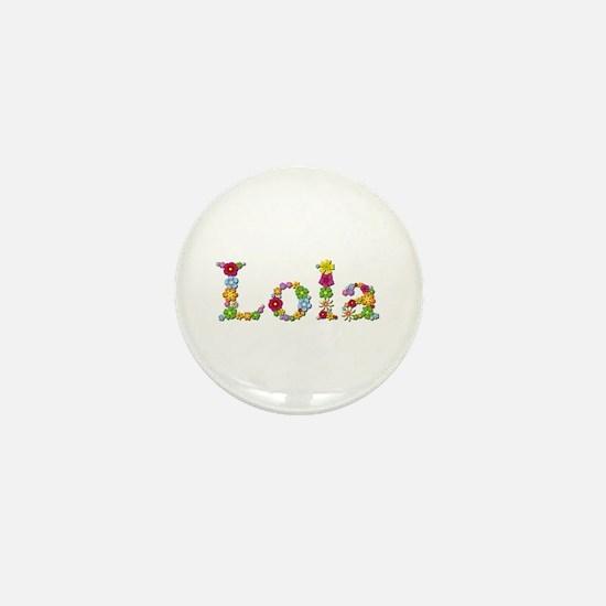 Lola Bright Flowers Mini Button